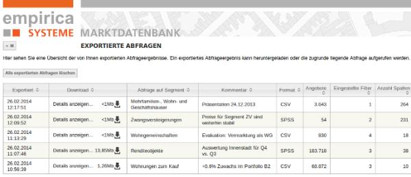 analyst_homepage_screenshot_exportierte_abfragen