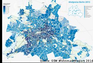 GSW CBRE Wohnungsmarktreport 2014 Berlin