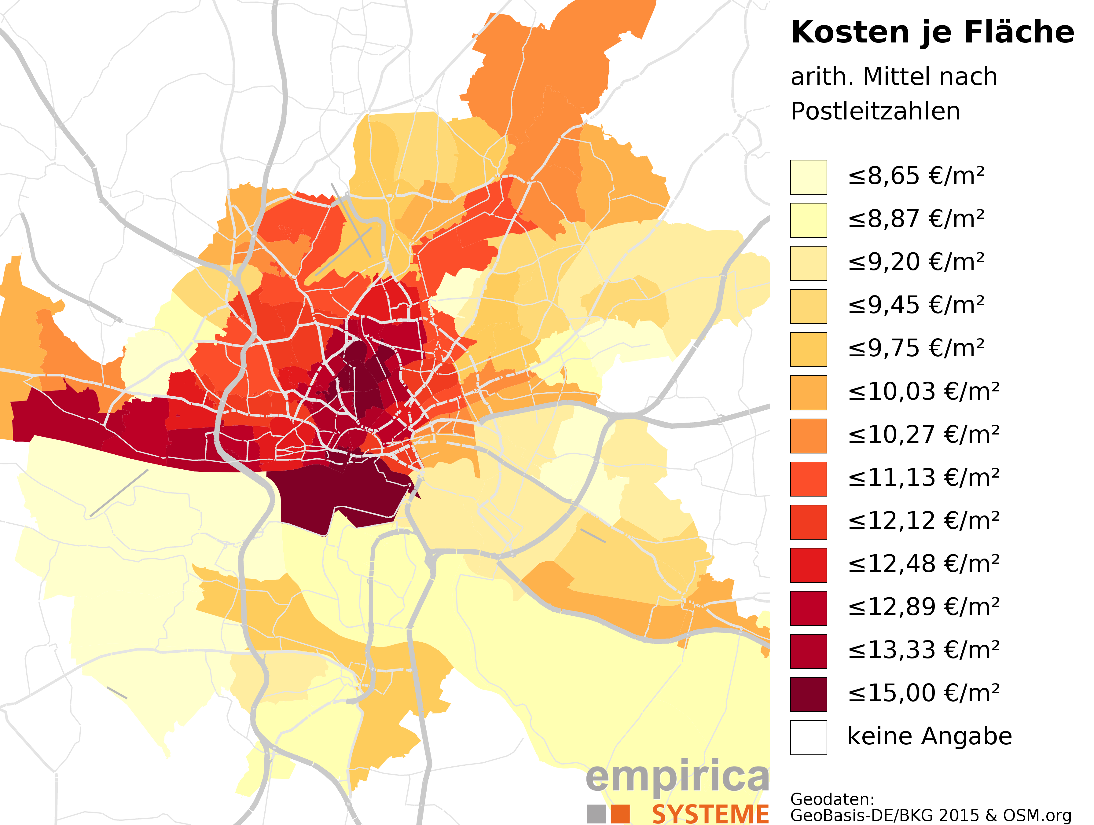 Rent Maps For Germany Empiricasysteme GmbH - Us rental yield map