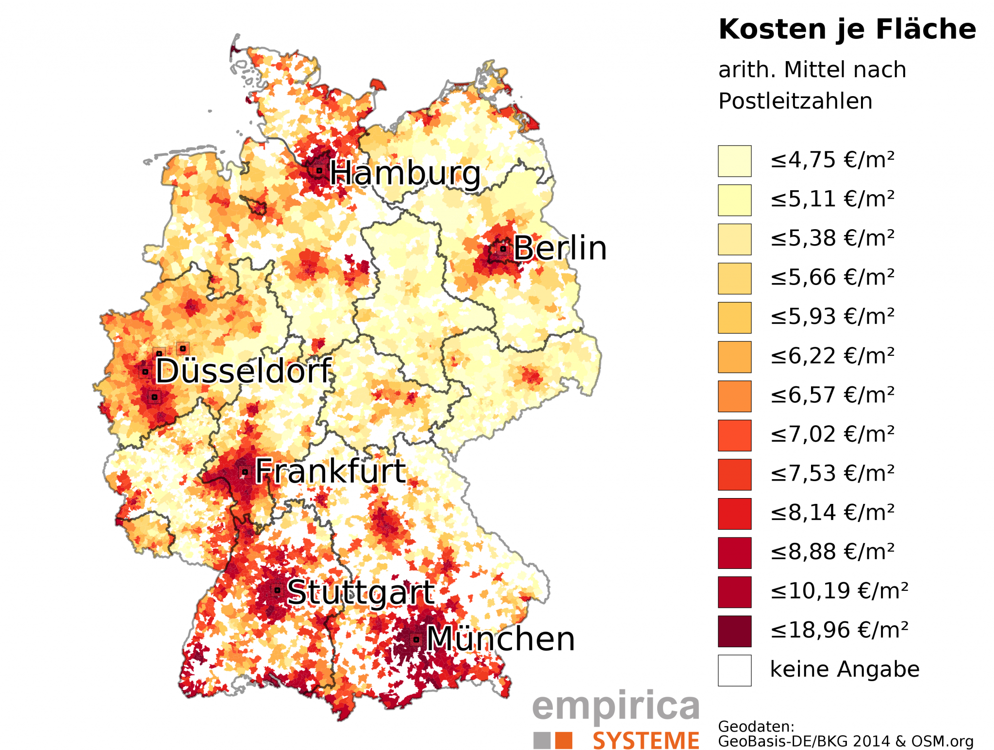 Rent Maps Germany Empiricasysteme GmbH - Us rental yield map