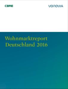 Deckblatt Wohnungsmarktreport Deutschland2016 Vonovia/CBRE