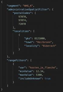 REST-API Response JSON